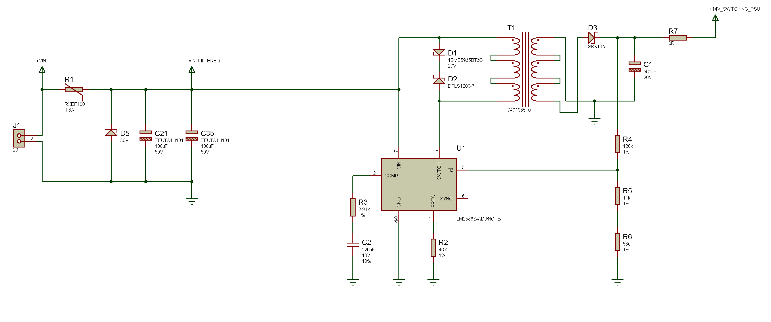 How to wire up flyback transformer with multiple windings