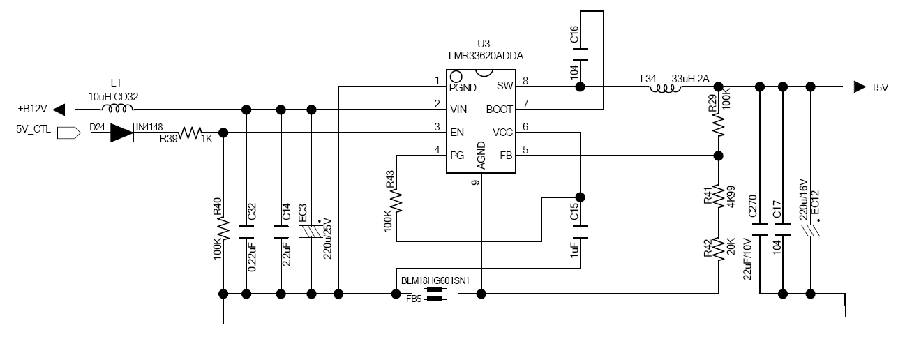 LMR33620: Short circuit protection function of LMR33620 is