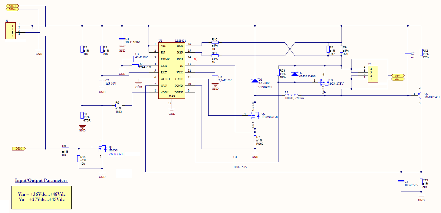 Resolved] LM3421: Issue when dimming at 20KHz, DCM mode