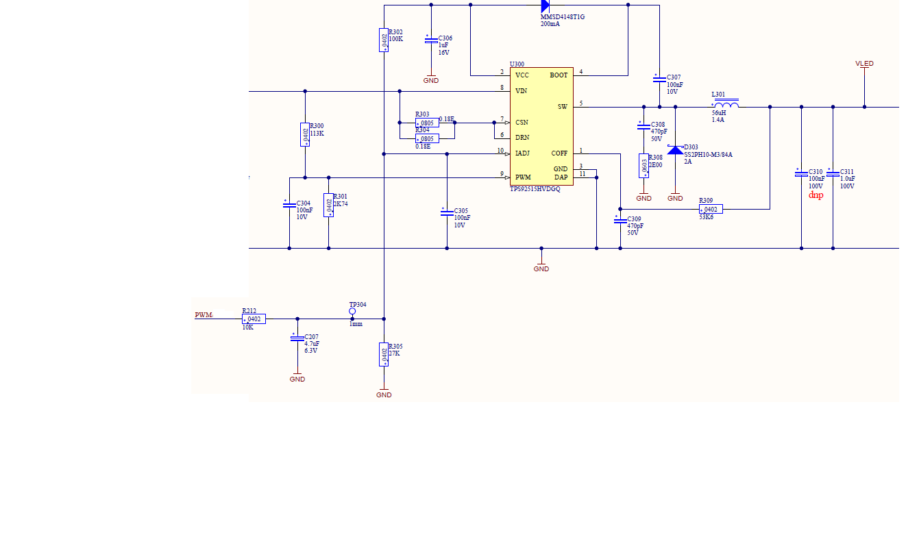 Tps92515hv Led Flickering Issue Below 3 Dimming Power Management Driver Circuit For We Are Working On An Dimmer Which Supports Dali20 Interface Already Received The Hardware And Software Only