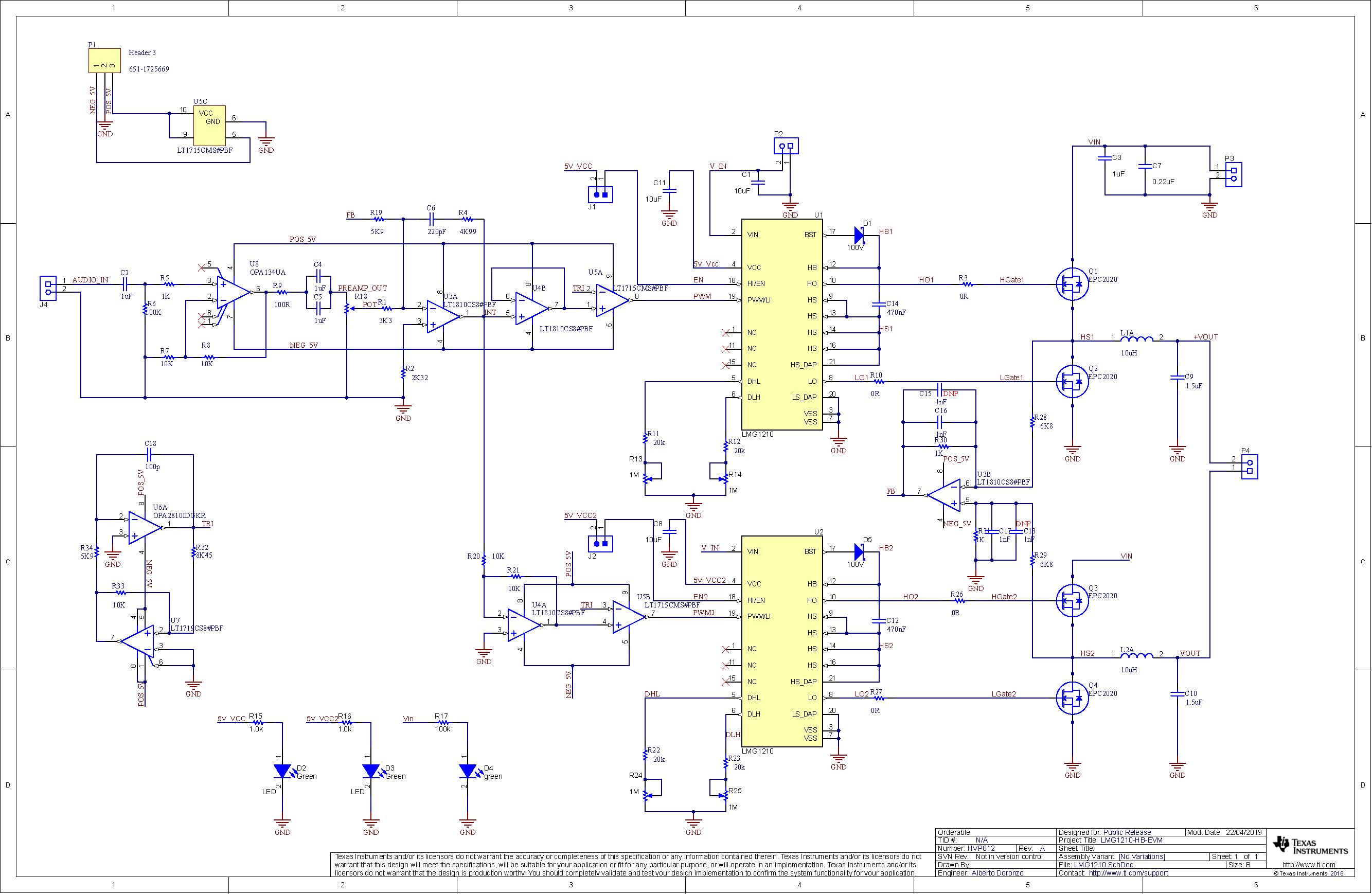 LMG1210: PCB Layout & TI Vault connection - Power management