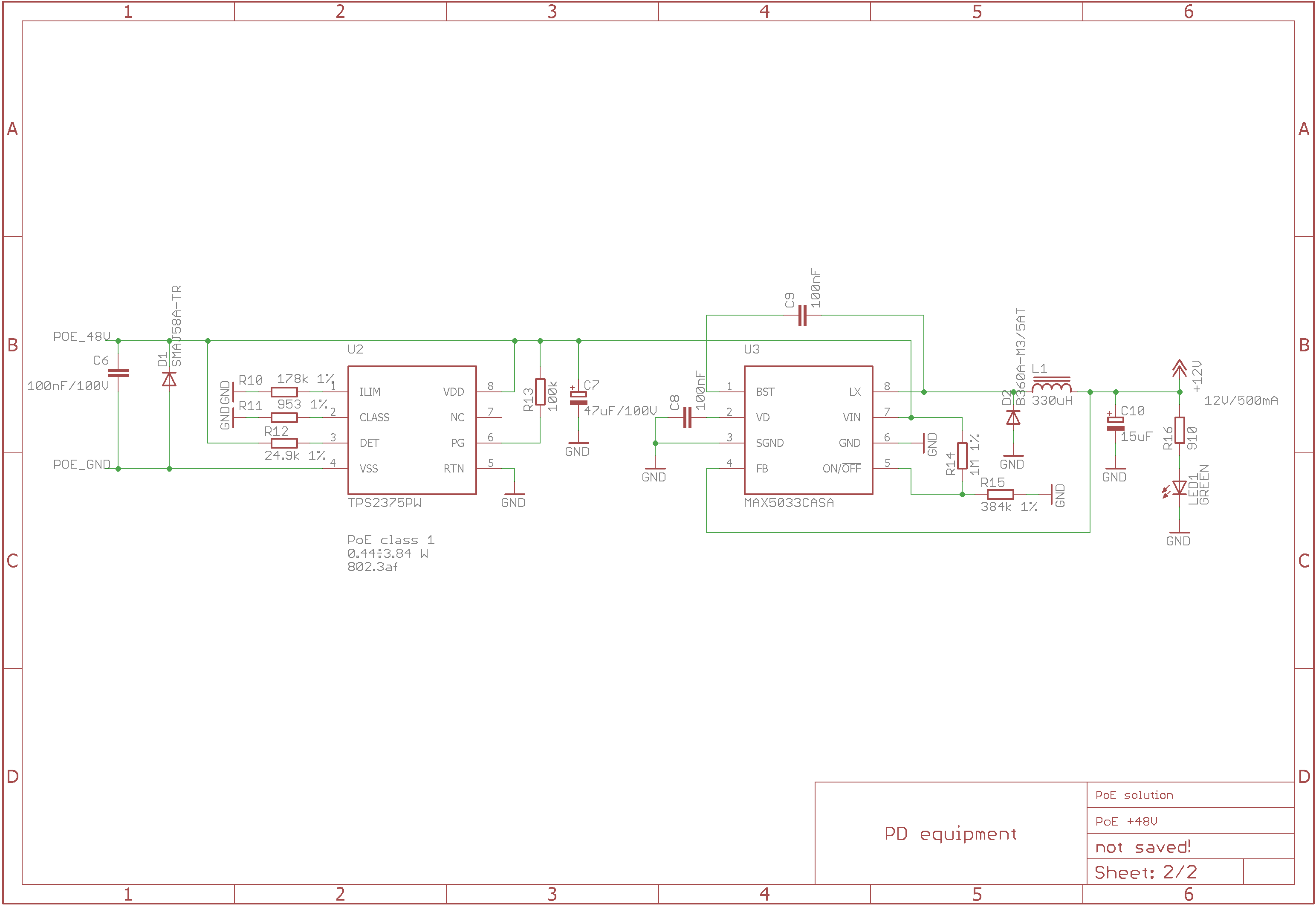 Resolved] TPS2375: Large voltage drop accros PD controller