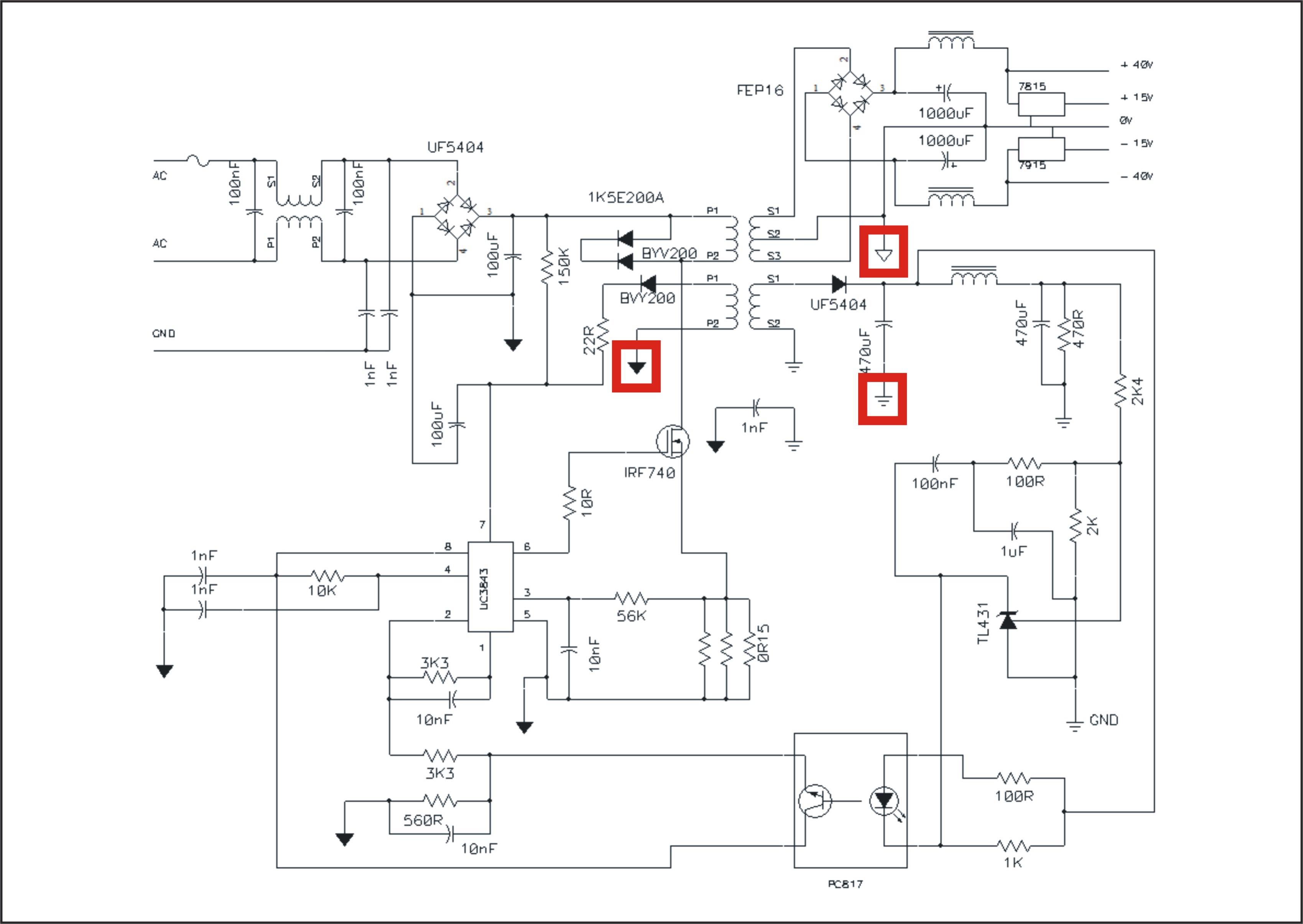 UC3842 symmetric - Power management forum - Power management - TI
