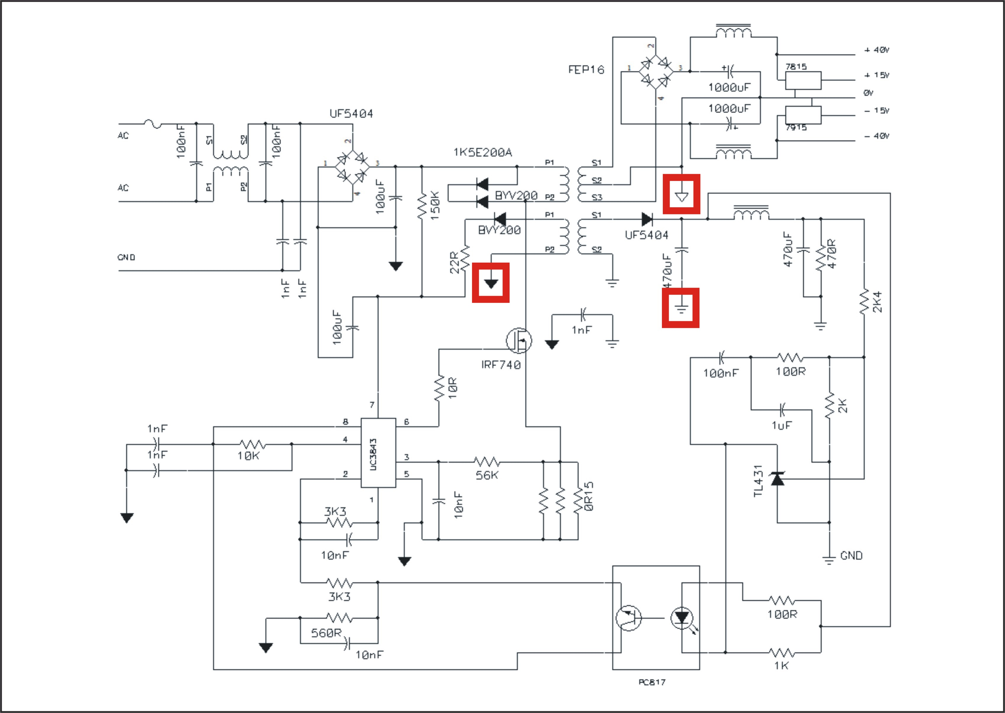 Smps Circuit Diagram Using Uc3843 - Somurich com
