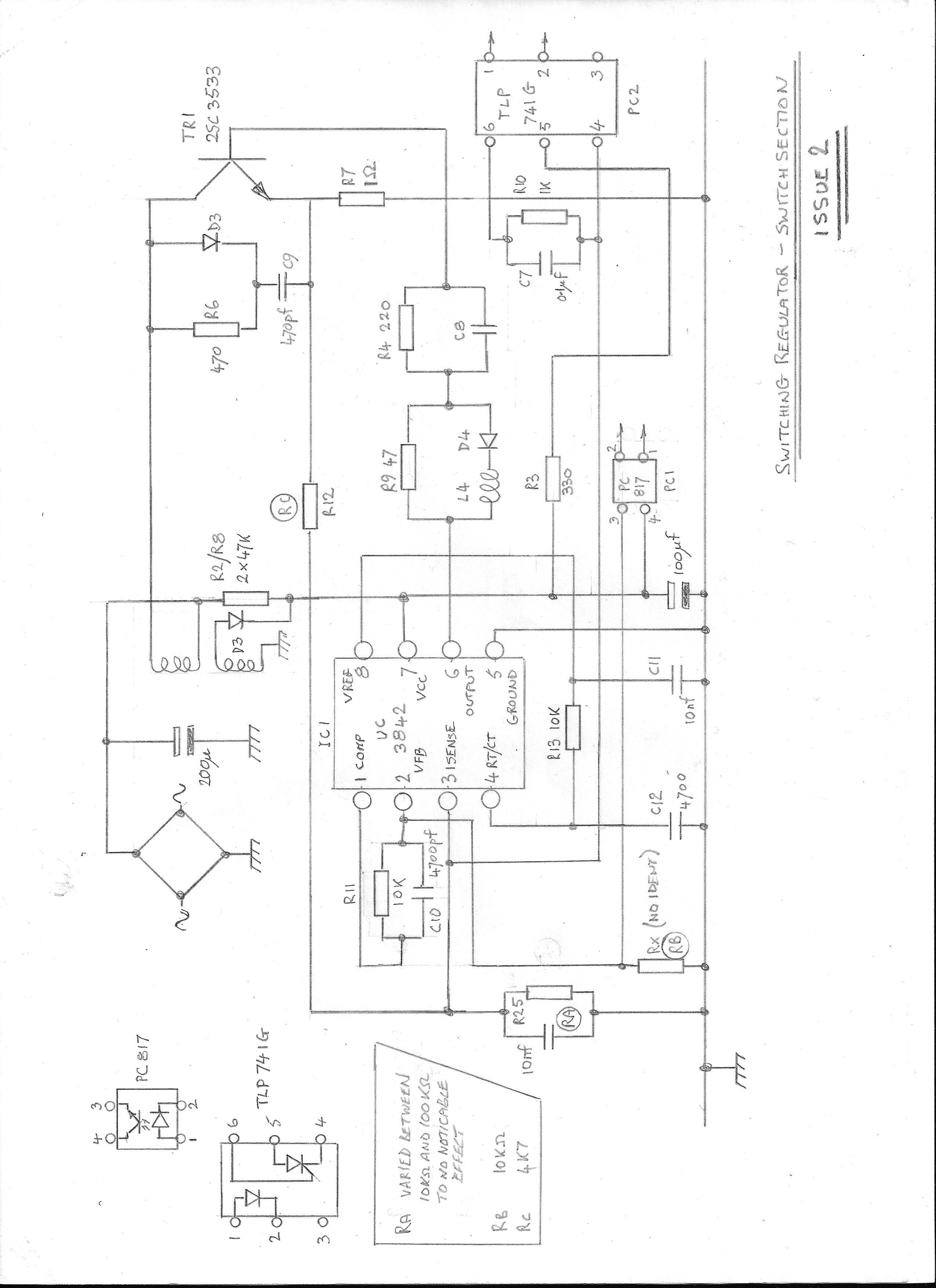 UC3842: Regulator not oscillating correctly - Power
