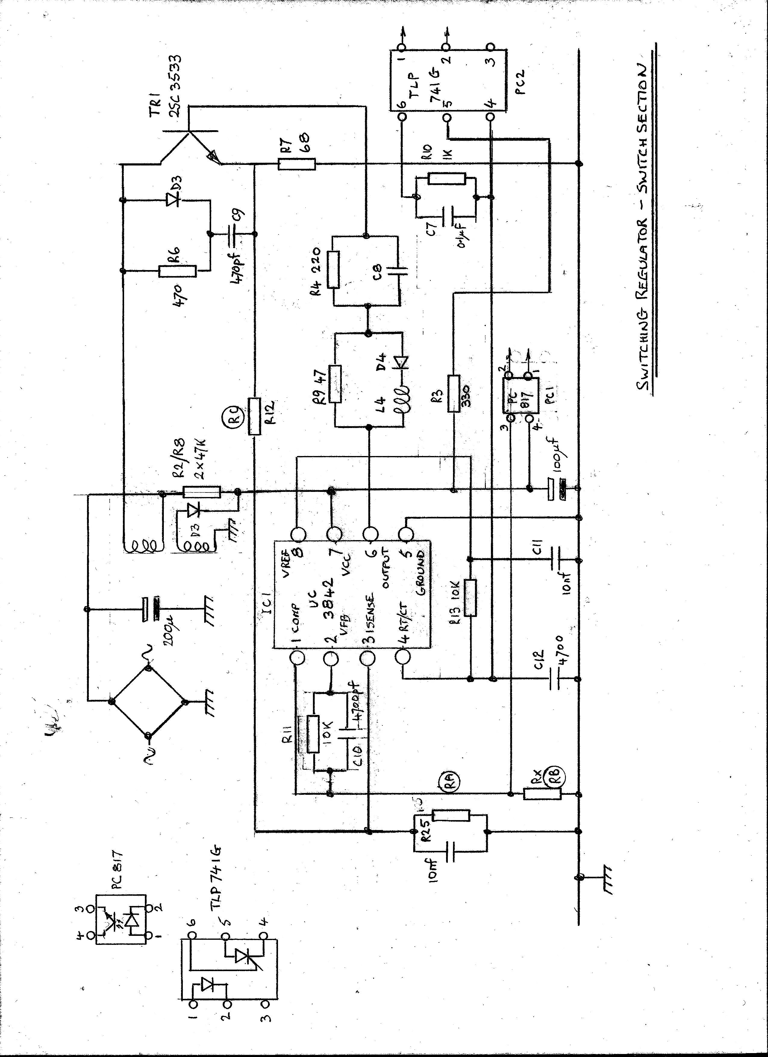 UC3842: Regulator not oscillating correctly - Power management forum