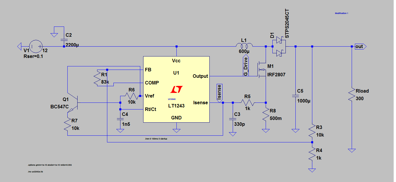 UC3843A: uc3843 skips the working cycles - Power management