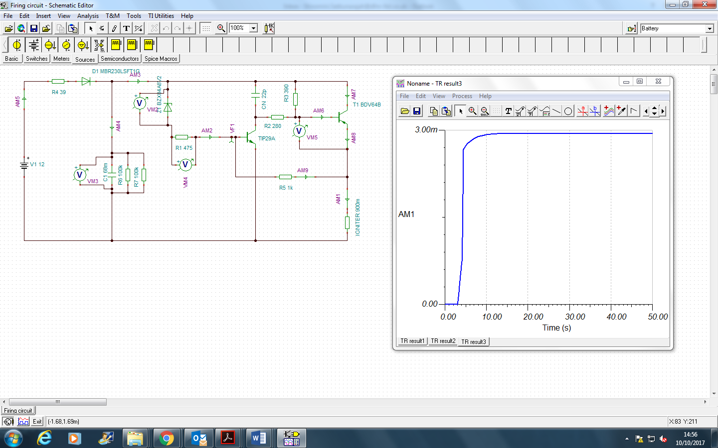 Resolved Webench Tools Tps61088 Slow Circuit Simulation And Of Sziklai Pair Also The Gain S Is To Get 5a Flow Through Load For 10ms While Voltage Across At Least 55v Clearly This Not Happening Complementary