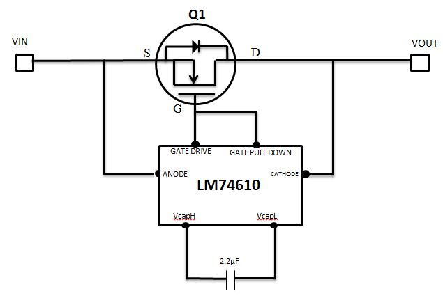 mosfet drain and source are interchangeable -for reverse polarity protection