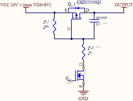 10v 25v For Pmos Csd25310q2 Switch Vgs Nexfet Power