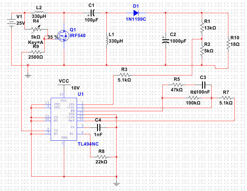 How to design a circuit to help the output of TL494 to power