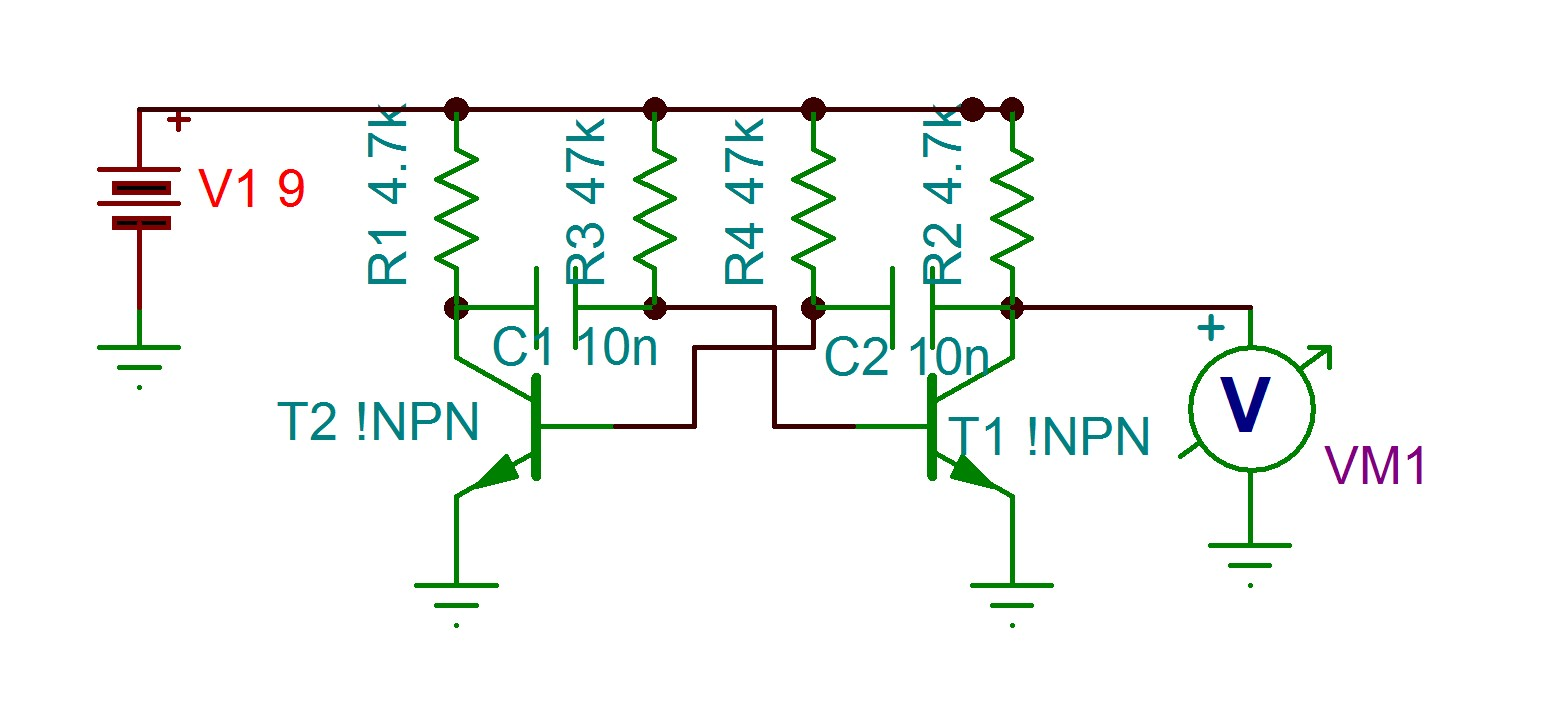 Resolved Why Doesnt This Simple 2 Transistor Circuit Oscillate In Oscillator Diagram Oscillatortsc