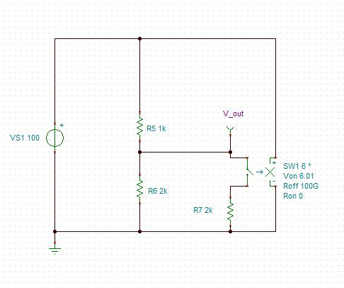 Strange Voltage Controlled Switch