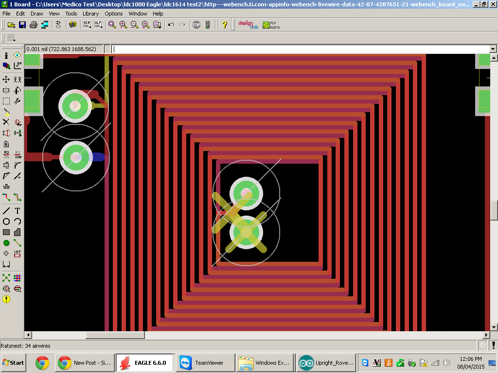 Webench LDC coil designer - Eagle export file yellow X - Simulation ...