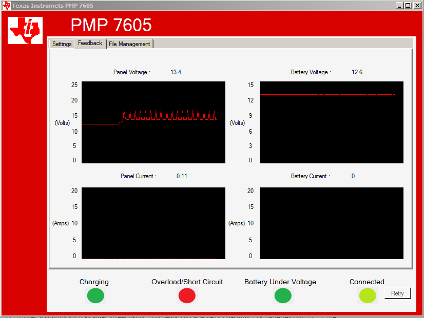 TIDA-00120: MPPT Charge Controller trouble with voltage
