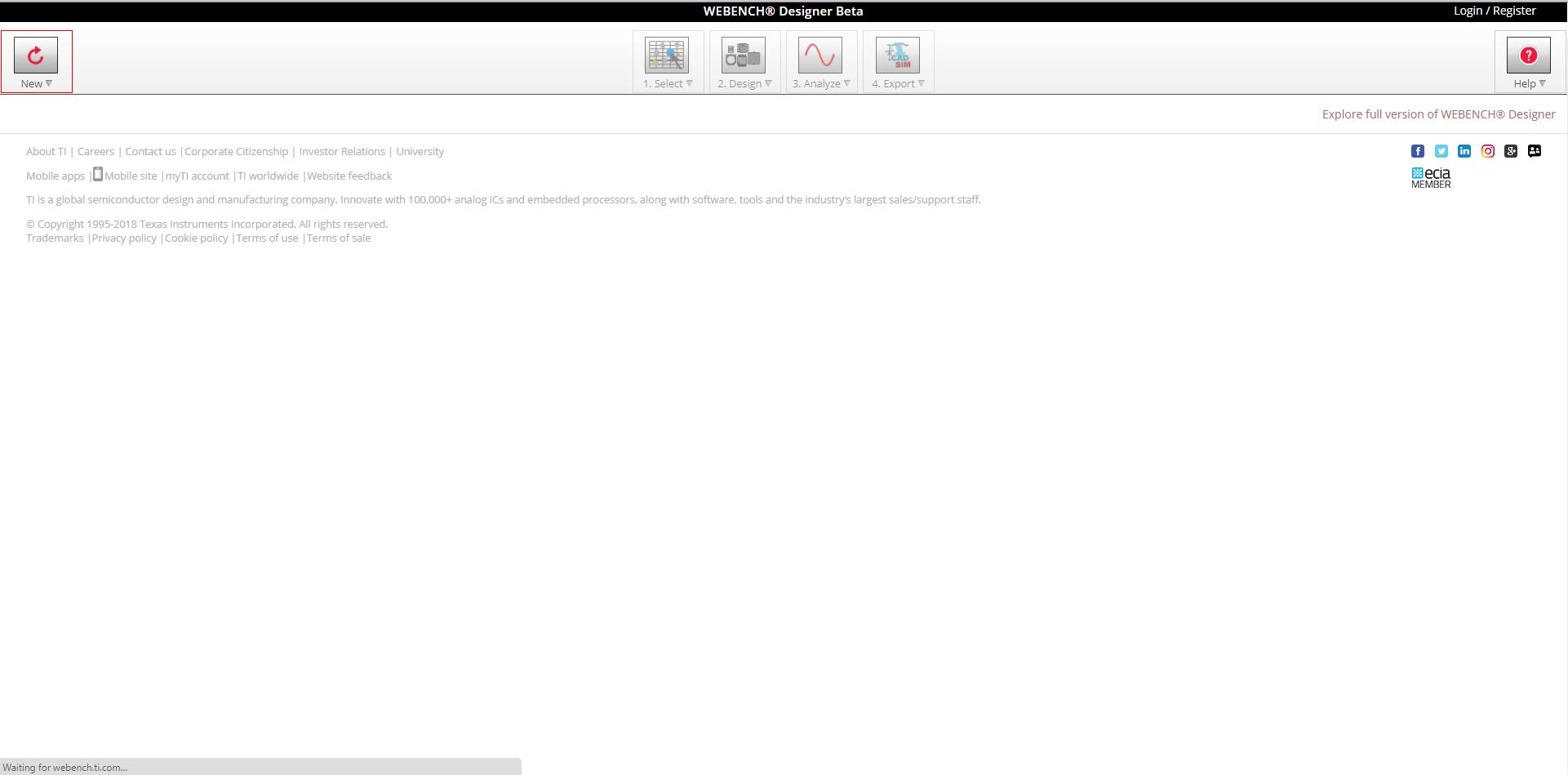 Resolved] WEBENCH® Tools: iPad WEBENCH Error - Simulation