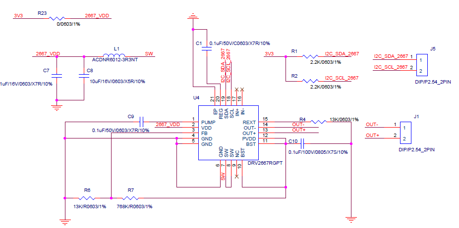 DRV2667: Schematic review - Motor drivers forum - Motor
