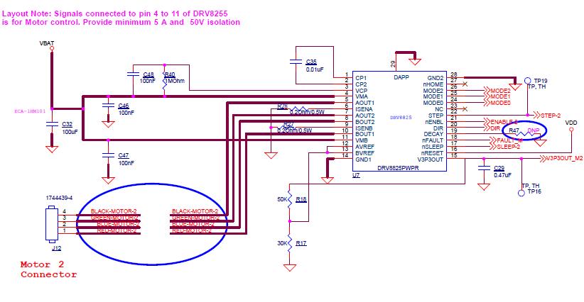 DRV8825: Erratic behaviour of stepper motor - Motor drivers