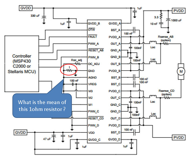drv8432 about application diagram example in datasheet