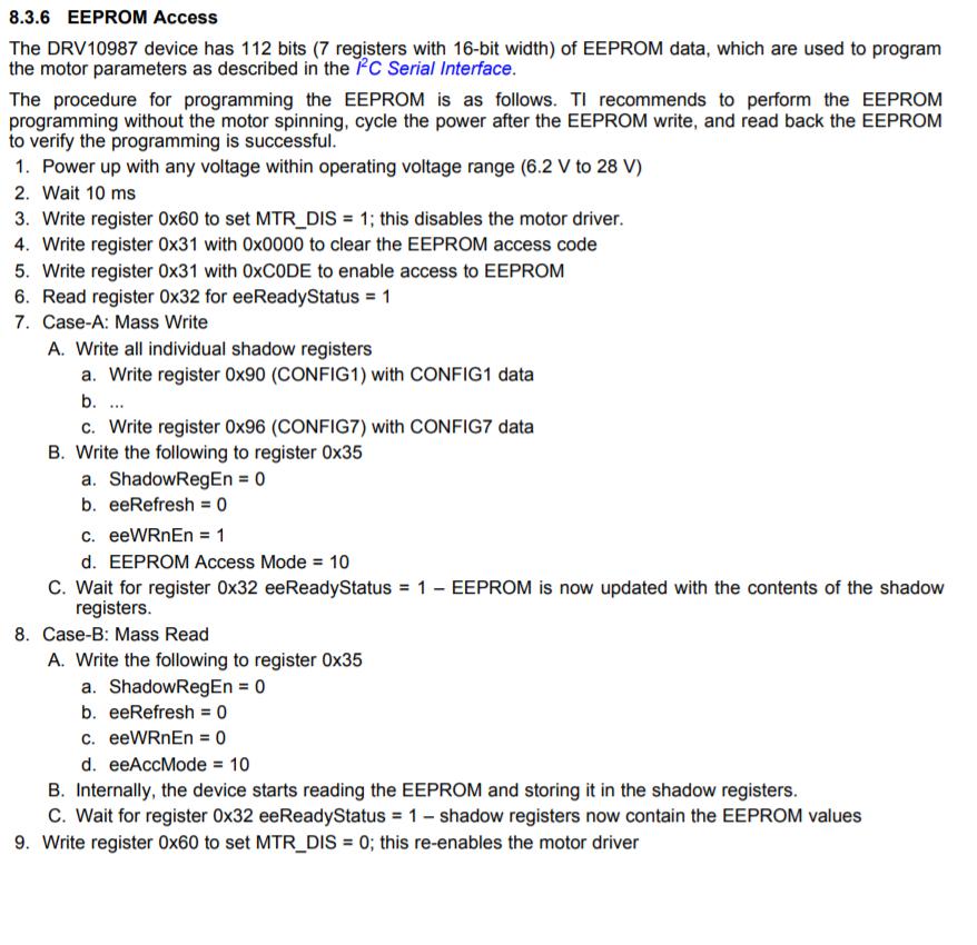 DRV10987EVM: I2C detect - Motor drivers forum - Motor drivers - TI