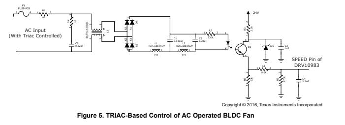 Resolved] TRIAC Based speed control for DRV10983 - Motor