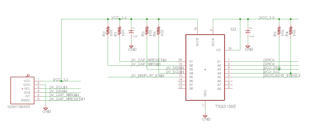 txs0108e i2c peripheral signalling error