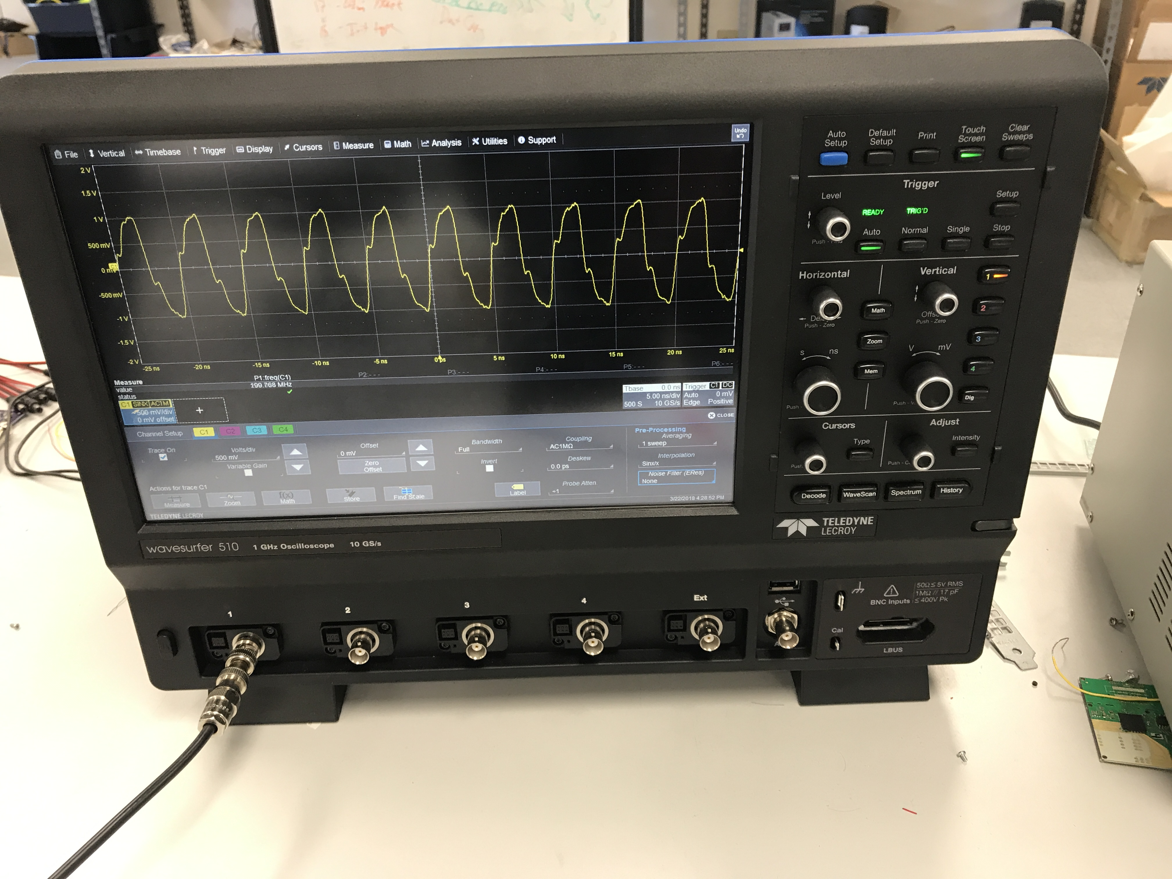 Resolved] LMX2595EVM: LMX2595EVM Low Frequency Output Waveforms