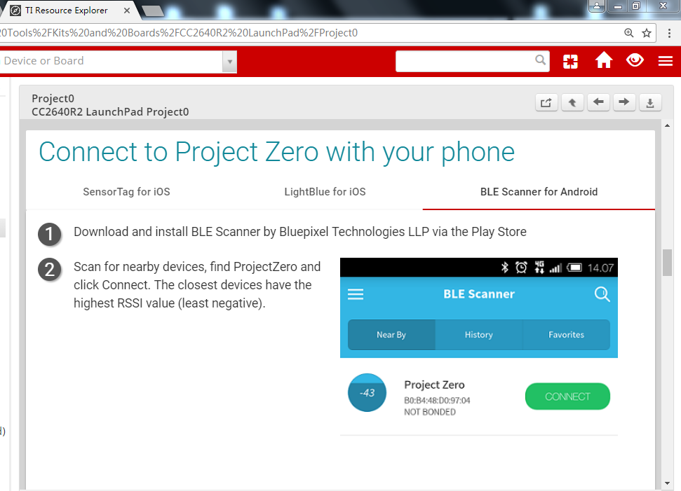 CCS/CC2640R2F: Who can give me BLE Scanner APP for android