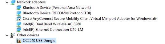 Cc2540 Usb Dongle Driver Windows 10