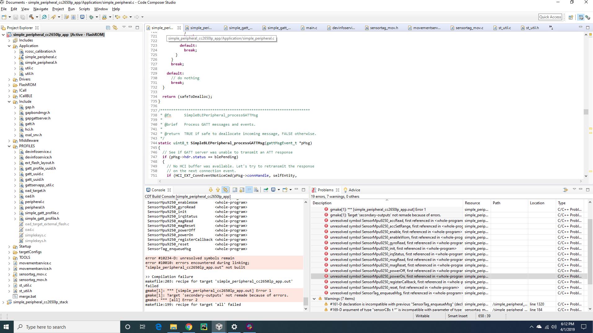 Compiler/LAUNCHXL-CC2650: Accelerometer Sensor - Bluetooth® forum