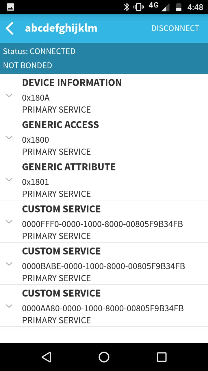 CCS/CC2640R2F: why am i not getting any BLE service s and