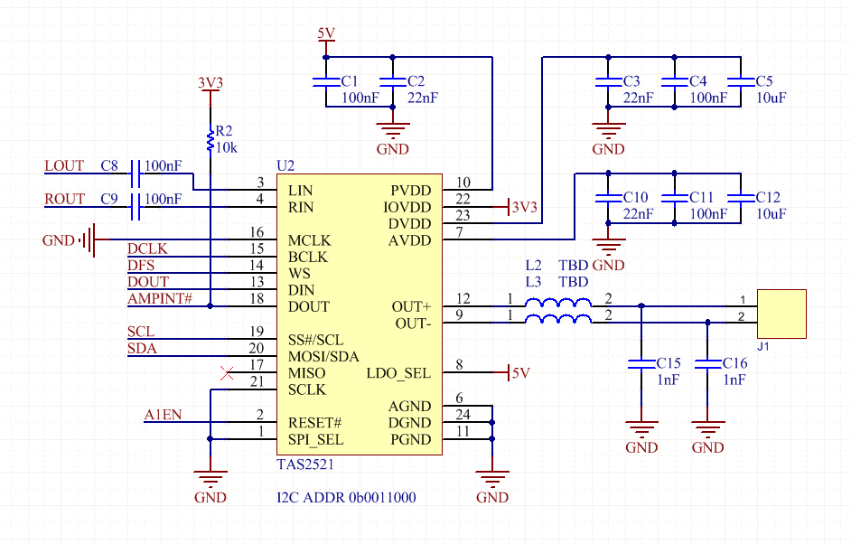 Resolved] TAS2521: TAS2521 does not appear on I2C, other I2C devices