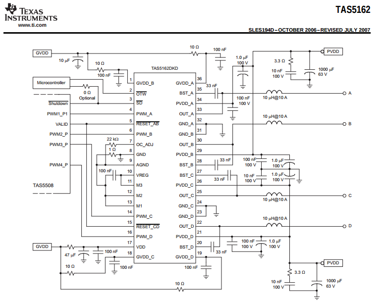 tas5162 don u0026 39 t provide desired voltage level