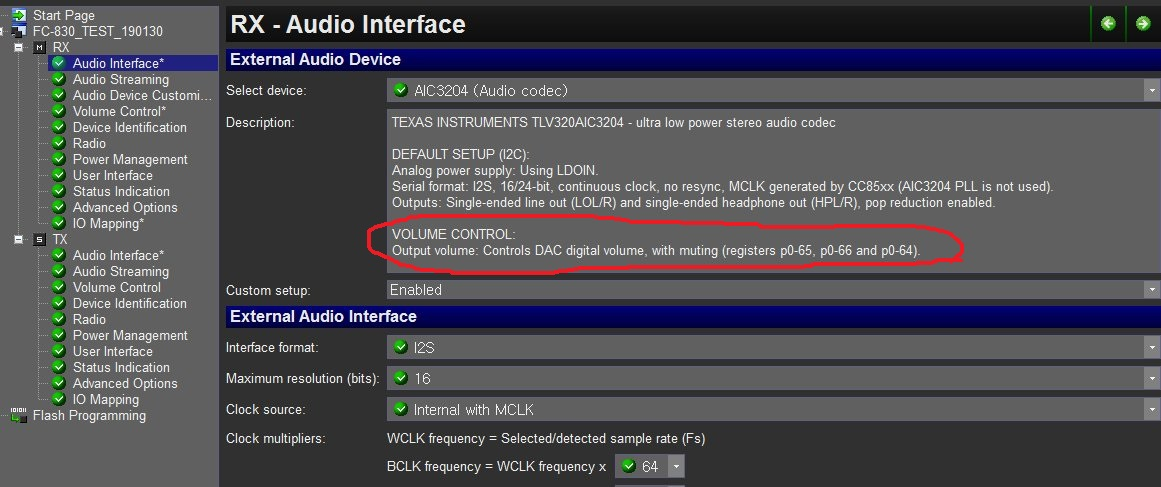 CC8520: CC8520 with codec PPWC volume control - Other