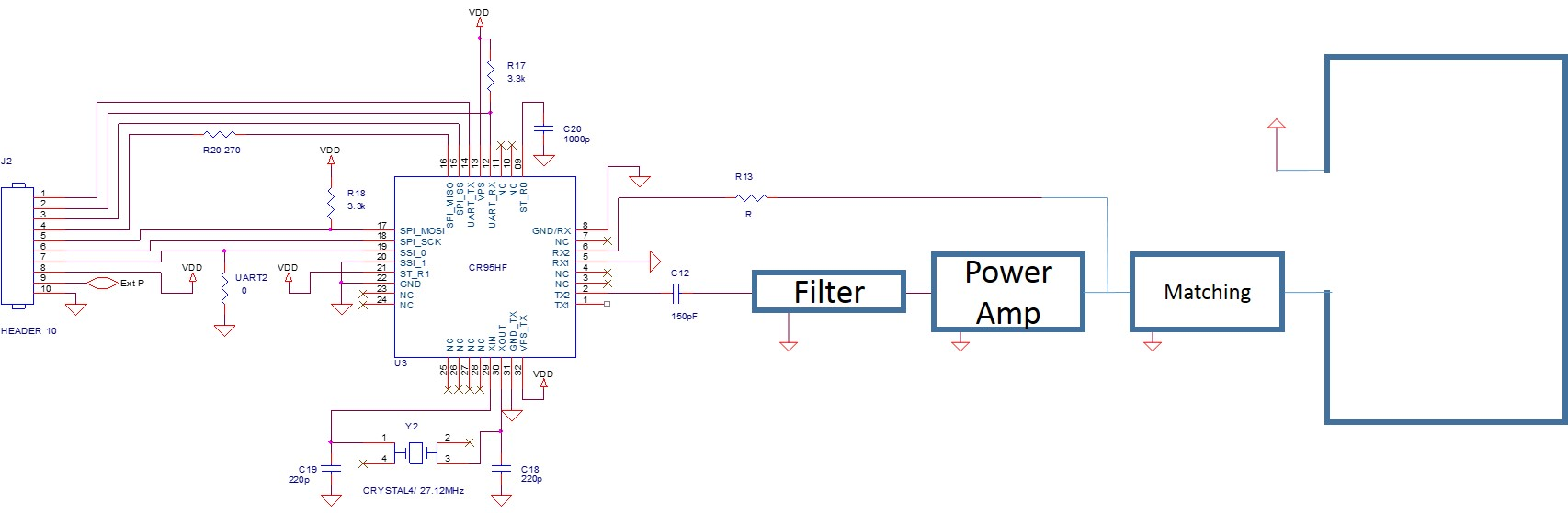 NFC chip with power amplifier  - Other wireless technologies