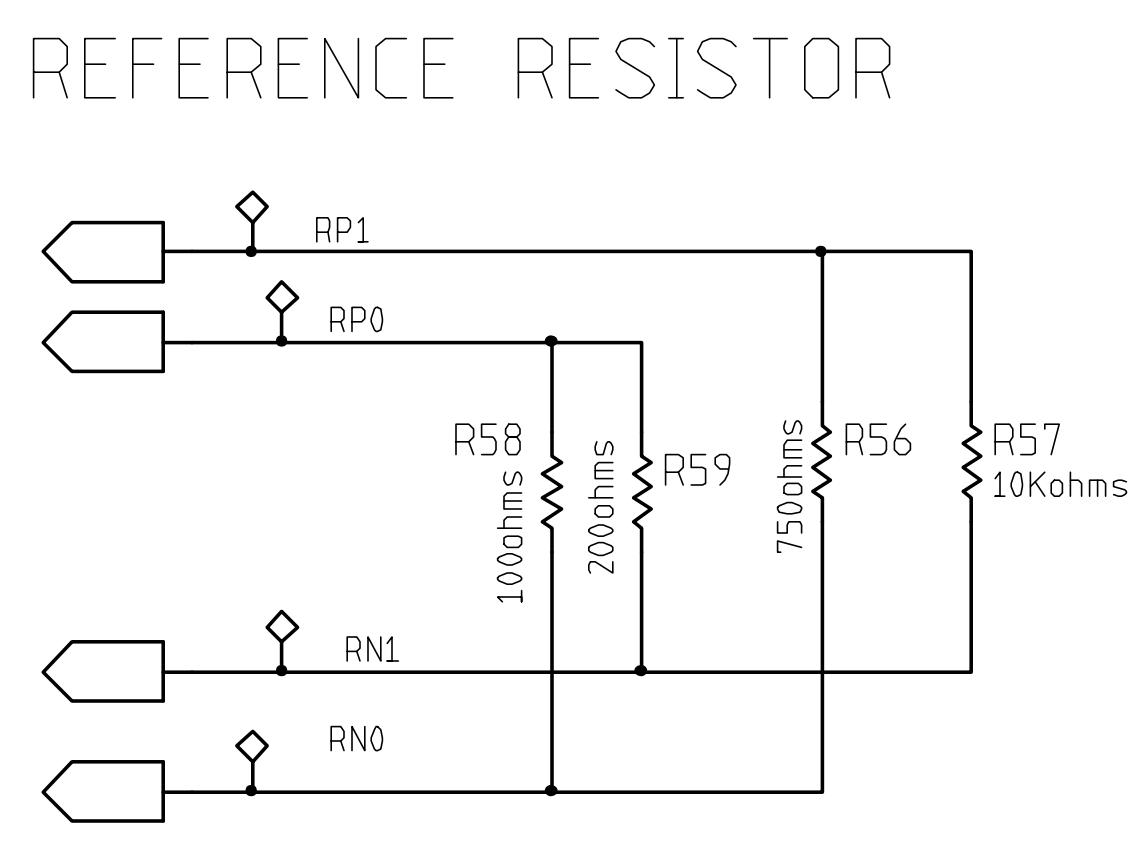 Afe4300evm Pdk Impedance Measurement And Transferring Data Using Wiringpi Spi Functions As Seen In The Image R56 R57 R58 R59 Are Connected Series So If You Measuring Will Get Value For