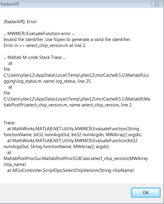 error using / matlab