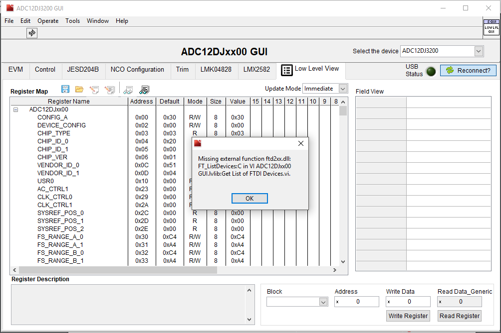 Linux/ADC12DJ3200EVM: ADC - Data converters forum - Data