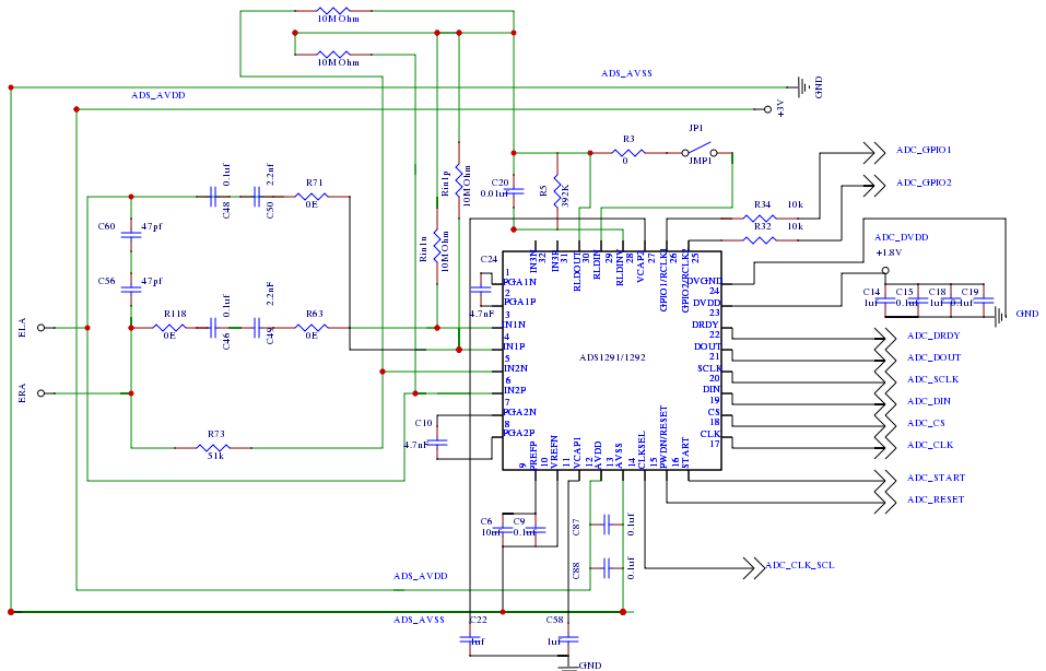 12 Lead Ecg Circuit Diagram | Resolved Ads1298 With Single Lead Ecg Data Converters Forum