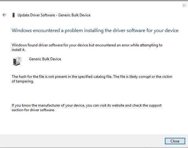 Resolved] USB Bulk Driver for ADS127L01EVM on Windows 10 x64