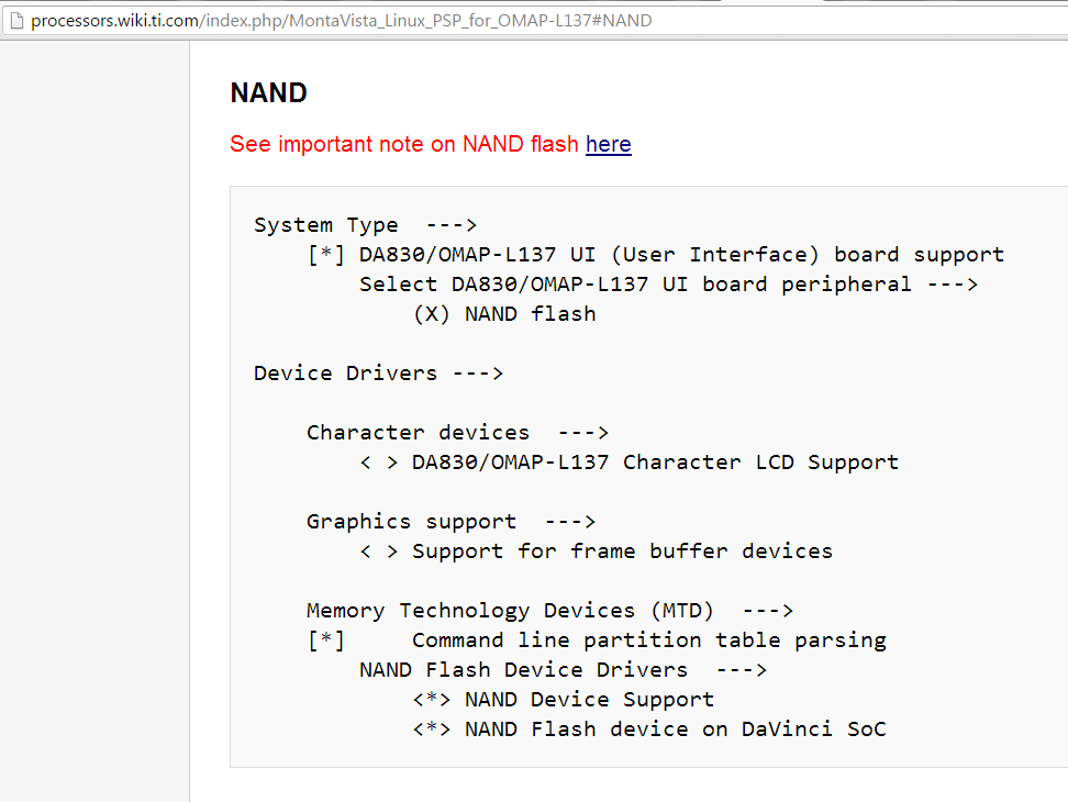 Linux/OMAP-L137: NAND Flash and LCD together on User