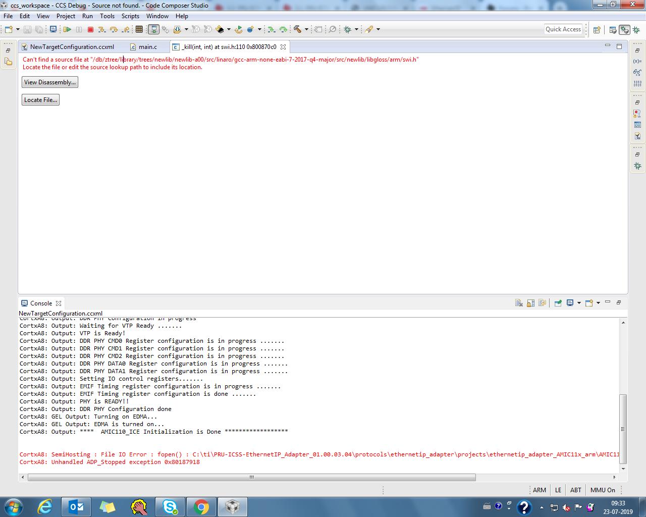 CCS/PROCESSOR SDK AMIC20 tmdxice20   Processors forum ...