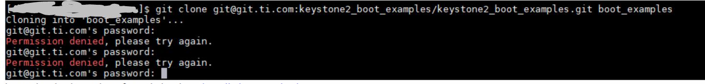 Resolved] EVMK2H: Password for the GIT repo for Keystone II