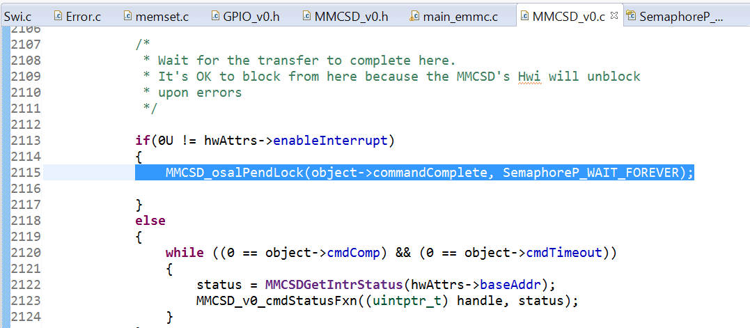 RTOS/TMS320C6748: eMMC driver example for C6748 - Processors