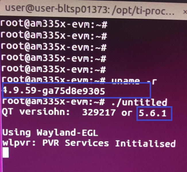 Resolved] Linux/AM3354: Qt version - Processors forum