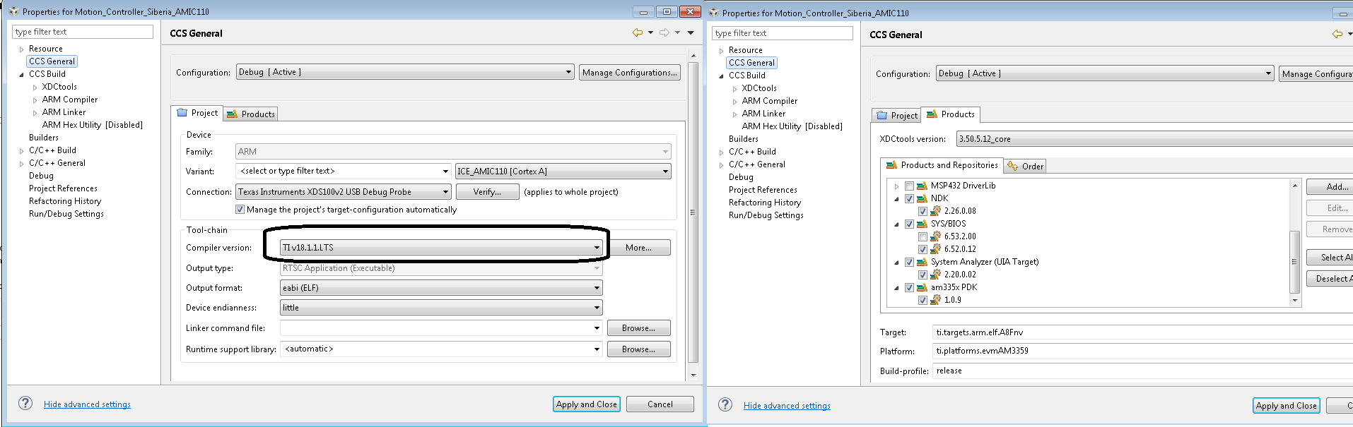 Resolved] RTOS/TMDXICE110: Difference between Linaro and