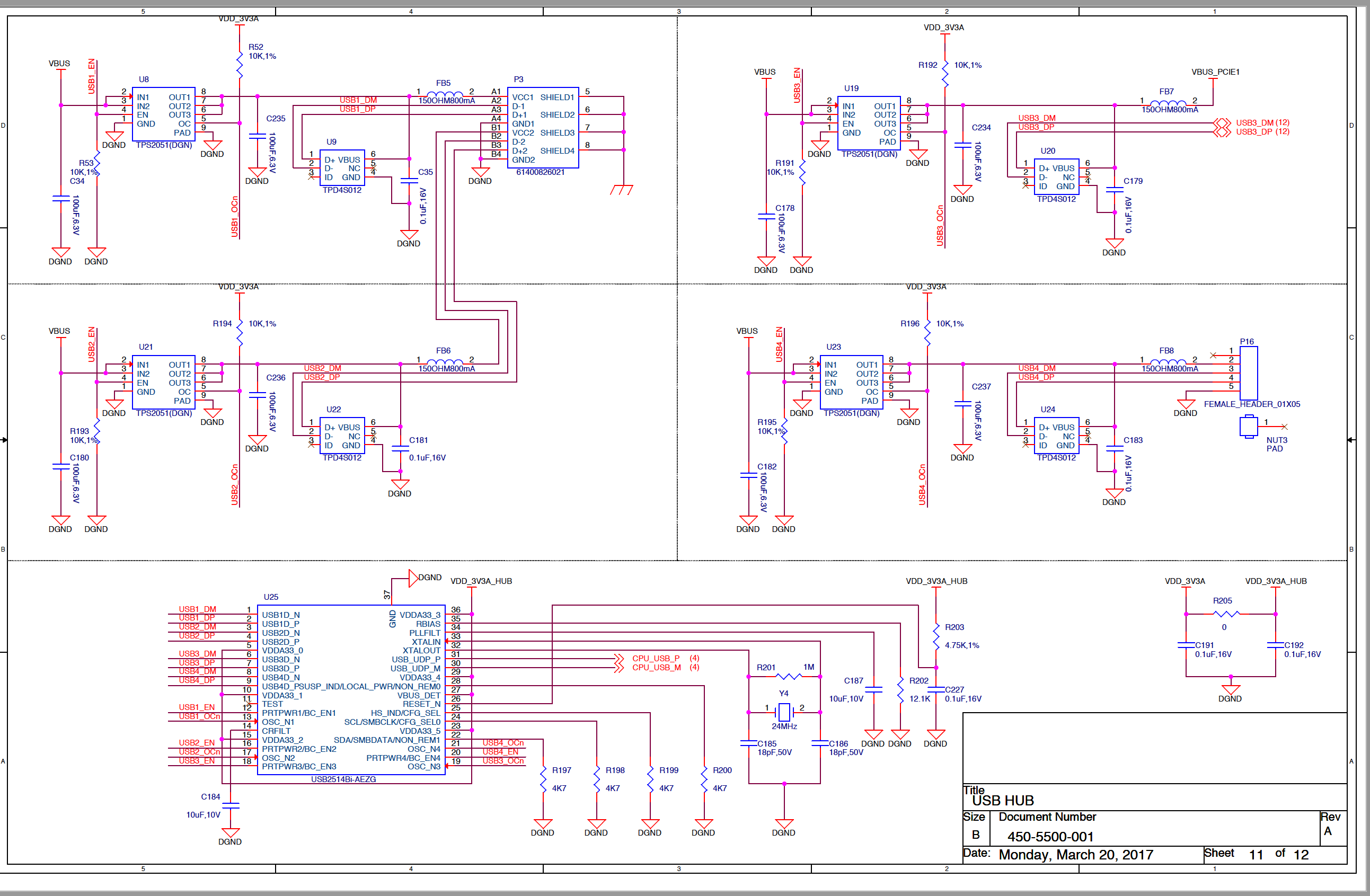 Usb Hub Not Working Processors Forum Ti E2e Community Schematic For Some Reason The Does Seem To Be Can You Please Have A Look At Schematics And Let Me Know If Circuit Is Correct