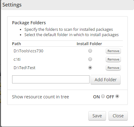 Resolved] CCS/TI-RTOS: Installing to another drive - NOT C