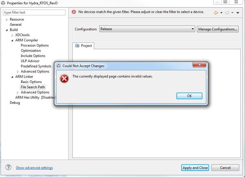 Resolved] CCS/MSP432P4111: CCS errors when changing / navigating