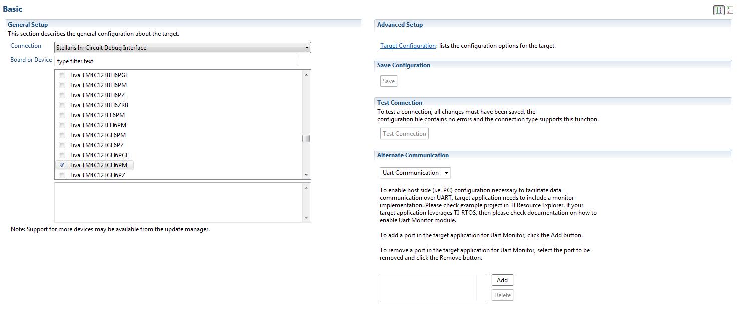 Resolved] CCS/TM4C123GH6PM: Target Configuration Error for